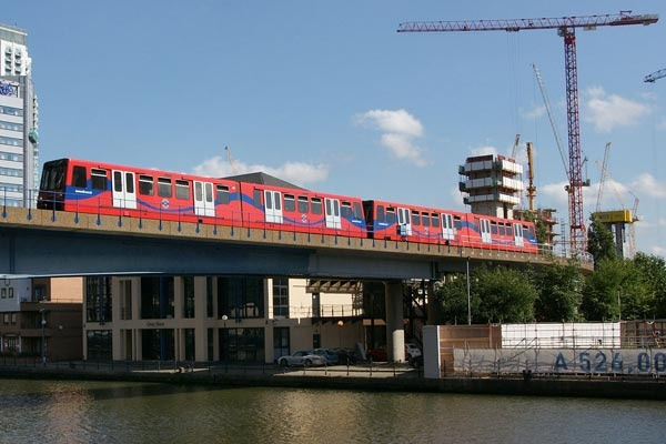 The Docklands Light Railway (DLR)