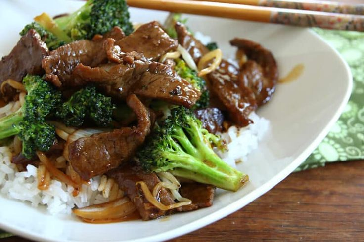 The BEST Chinese Beef and Broccoli! This stir fry is not only delicious, it's ready for the table in 15 minutes!