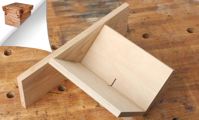 This simple woodworking jig allows you to cut spline slots in the corners of your boxes for stronger, longer-lasting miter joints.