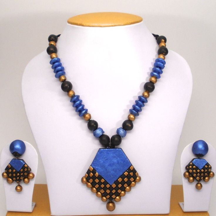 grand terracotta set in black and blue