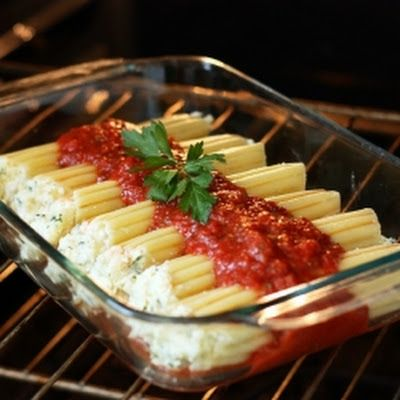 Three Cheese Manicotti @keyingredient #cheese