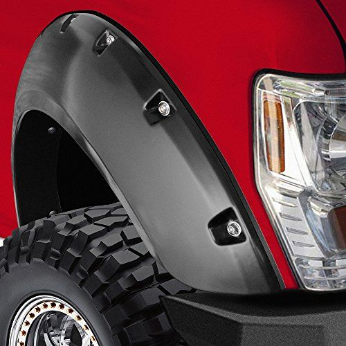 "OxGord® 4pc Set Fender Flares Fits 02-08 Dodge Ram 1500/2500/3500 Bolt On Pockets Off Road Matt Black Style ""OEM Paintable Factory Replacement"" Kit for Front, Rear, Left & Right Pairs 