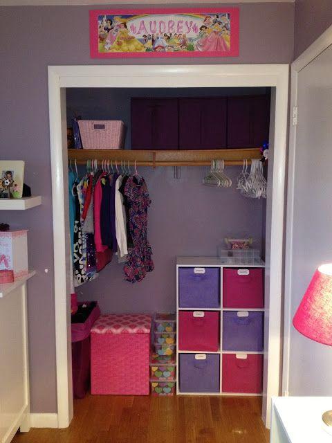 Organizing A Young Girl's Room (closet) - organizingforsix.blogspot.com