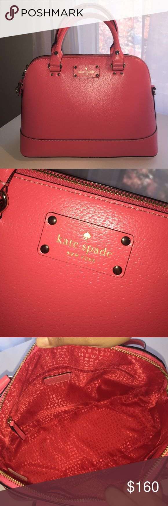 Kate spade small rachelle (pink) Perfect condition! Medium sized bag with removable cross-body strap. No scratches or dents. kate spade Bags Crossbody Bags