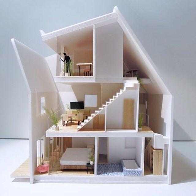 "4,712 curtidas, 18 comentários - ARCFLY  (Festim Toshi) (@arcfly_ft) no Instagram: ""House MA02, #Tokyo #archmodels #housedesign #architect ________________________________ . Use…"""