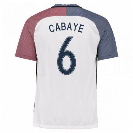 Frankrike 2016 Yohan Cabaye 6 Borte Drakt Kortermet.  http://www.fotballteam.com/frankrike-2016-yohan-cabaye-6-borte-drakt-kortermet.  #fotballdrakter