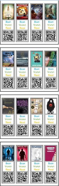 Students create book review. Put QR Codes on bookmarks to promote books. Display in class/library.