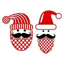 Merry Mustache SVG Cuttable Designs