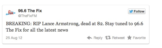 Lance Armstrong, Neil Young, Neil Armstrong: Close but no cigar