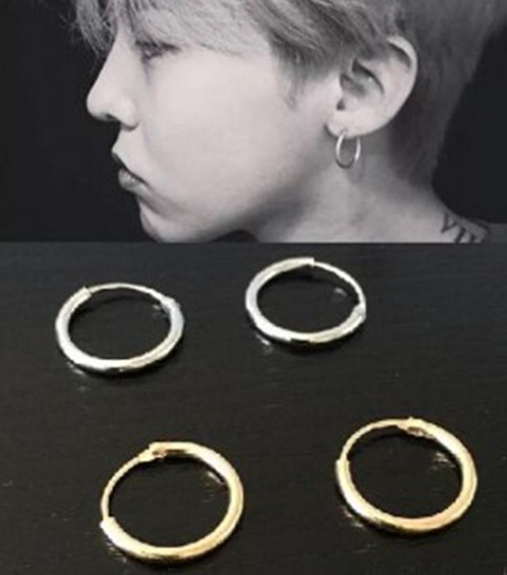 2016 Korean Version Of The Same Copper Earrings And Even Circle Ear Rings Couple Brass Earrings Jewelry Wholesale Men And Women