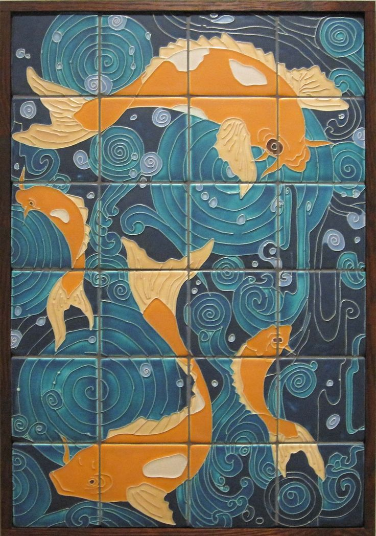 84 best images about ocean murals on pinterest for Art nouveau tile mural