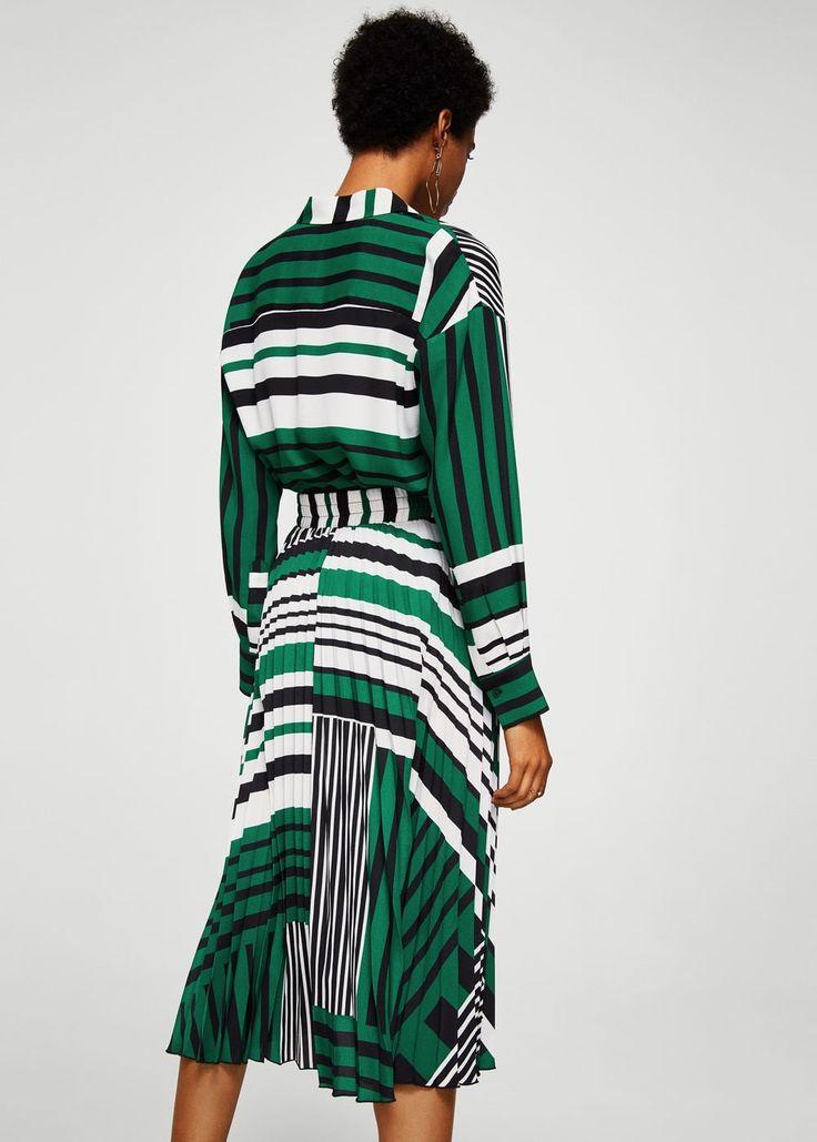 Falda plisada estampada | MANGO