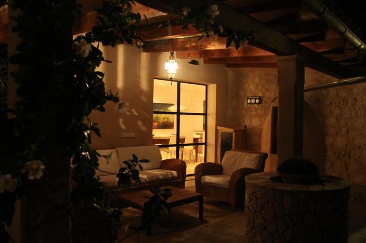 Veranda by night, Villa Emilia, Soller
