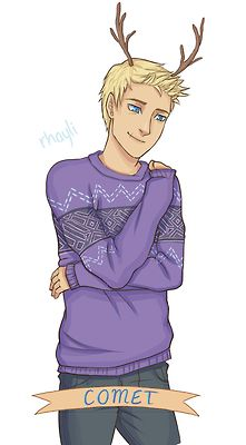 Jason in his holiday sweater. Pinned this purely because this is exactly how I pictured him looking like.