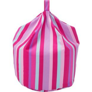 Buy Large Stripey Beanbag - Pink at Argos.co.uk - Your Online Shop for Beanbags #ArgosRoomInspiration