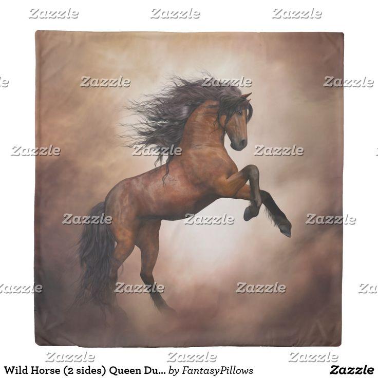 Wild Horse (2 sides) Queen Duvet Cover