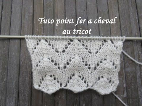 TUTO POINT FER A CHEVAL AU TRICOT Horseshoe stitch knitting PUNTO HERRADURA  DOS AGUJAS - YouTube 87ea1276887