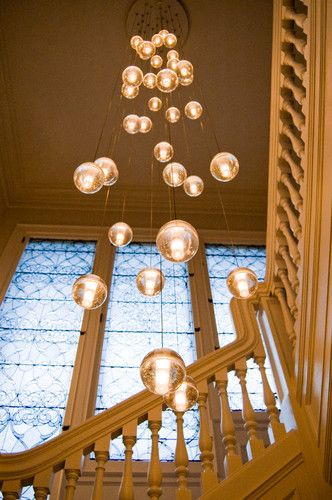 Great lights for a high entrance foyer or double story staircase - #lighting #light