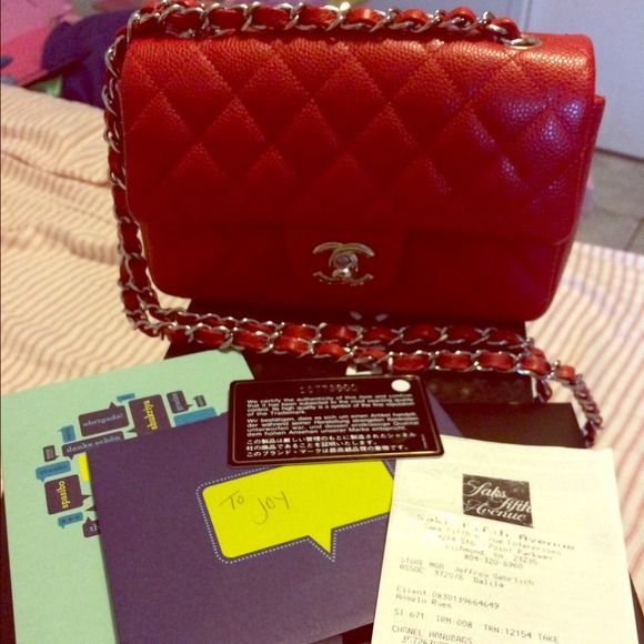 Sold locally-True red mini Chanel caviar  flap If u know Chanel, u know this is very hard to come by. Hurry and snatch it.. 100 % authentic Chanel red mini caviar flap..Very very good condition.. Been looking for this in a long long time and I found it. Unfortunately, have some unexpected expense  and need some money. Taking best offers. No low ballers. No trades. Will keep if I don't get my asking. I can do 28oo via p . Thanks CHANEL Bags