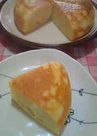 簡単☆炊飯器サツマイモチーズケーキ