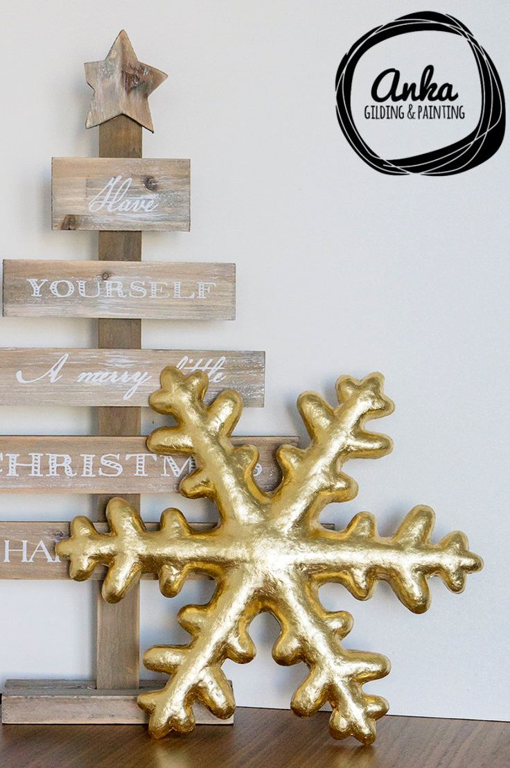 Stunning, gold-plated, large snowflake. Sculpted in the paper mache & finished in Gilding techniques. Diameter 11.5 in. Christmas decoration by ankaGilding on Etsy