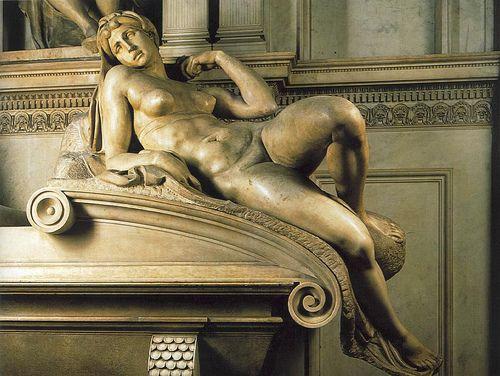 Michel Ange (1475/1564) - L'aurore. Détail du tombeau de Laurent de Medicis (1519/1534) - eglise San Lorenzo - Florence - conservé au musée d'Orsay