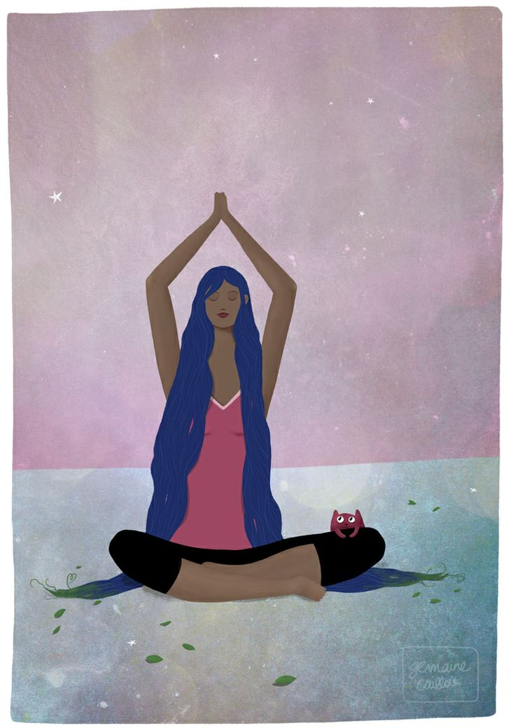 """I am Yoga"" by Germaine Caillou #yoga #peace"