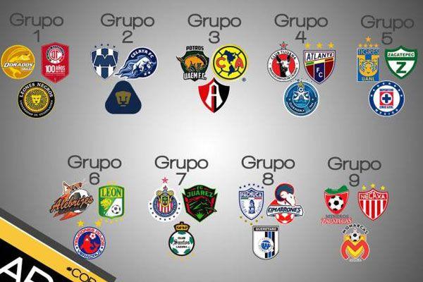 Grupos definidos para Copa MX 2017