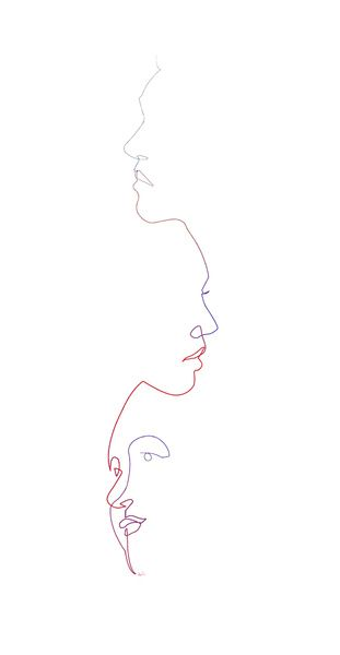 Contour Line Drawing Of A Face : The best line drawing ideas on pinterest
