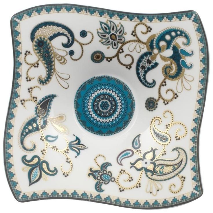 Samarah turquoise dip 14x14cm villeroy boch d cor pinterest vaiss - Poule villeroy et boch ...