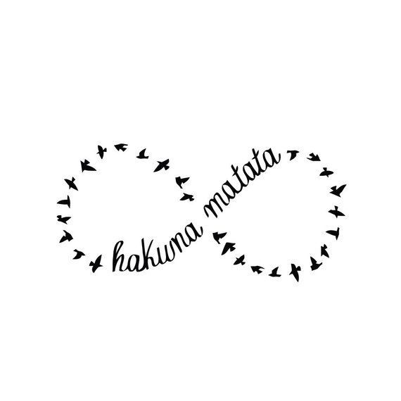Infinity – Hakuna Matata – Tattoo (Set of 2) –
