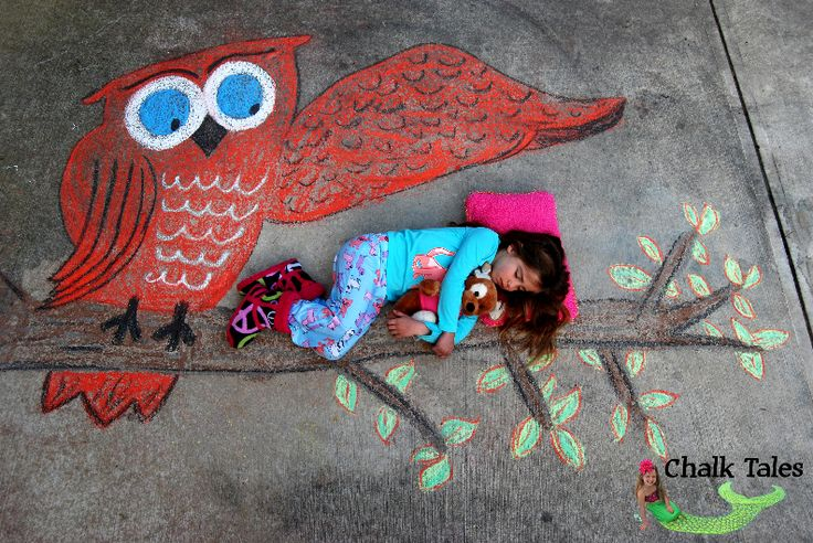 Fabulous and colorful Children's photography with Chalk