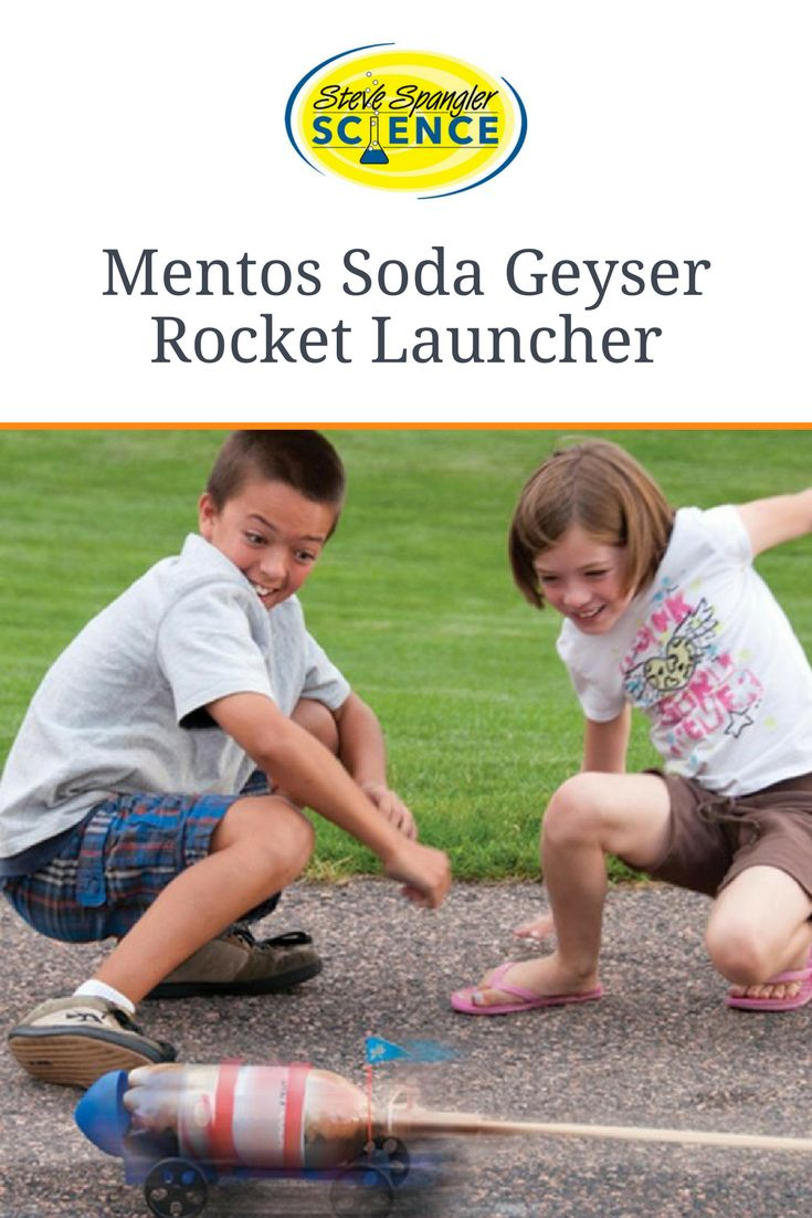 Use a Mentos®️ and Diet Coke®️ Geyser to transform a skateboard into a rocket. We love this summer science project!