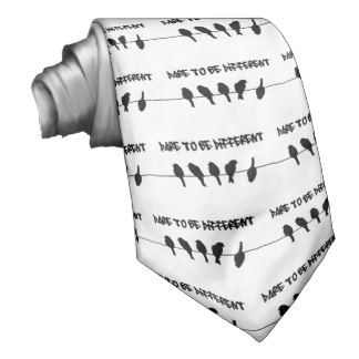Birds on a wire – dare to be different neck ties