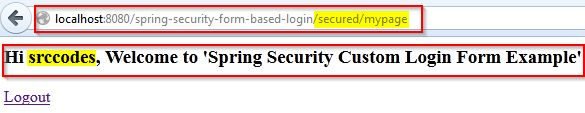Spring Security Custom Login Form Example