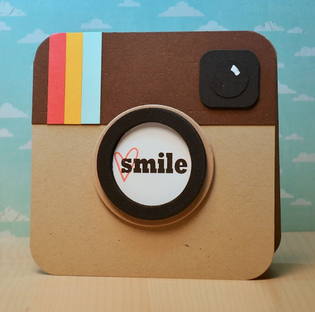 I adore this card! :D  Ribbon Girls {Handmade Cards}: Insta-Smile