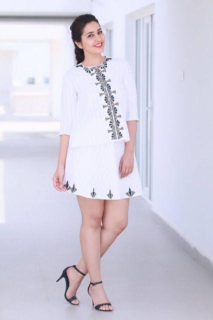 Rashi Khanna Latest Hot Glamourous Spicy PhotoShoot Images In White Mini Skirt  actress rashi khanna