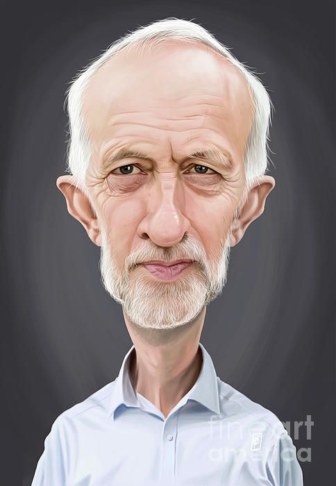 Jeremy Corbyn art | decor | wall art | inspiration | caricature | home decor | idea | humor | gifts