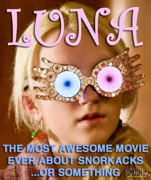 20 Harry Potter Movie Sequel Ideas: Luna: The Most Awesome Movie Ever About Snorkacks...or Something.