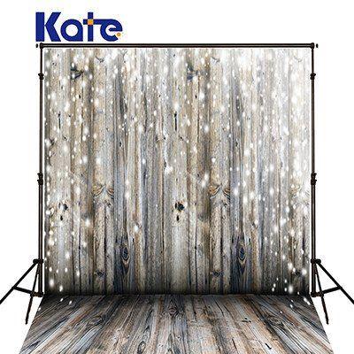 5x6.5ft KATE shining sliver point light  wood backdrop J02424-1