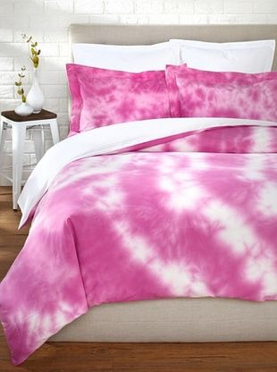 65% OFF OYO Bedding Tulien Batik Duvet Set (White/Pink)