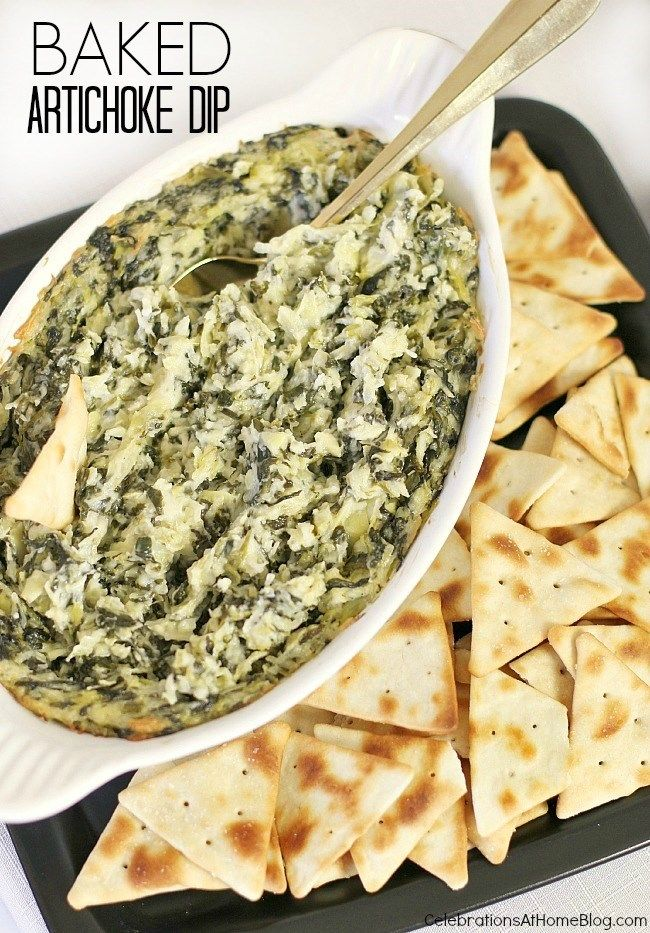 baked artichoke dip the girls will love!