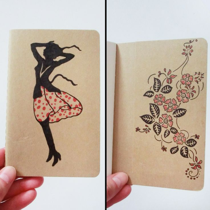Now in my shop: neat little sketchbook with hand drawn illustrations on it by me, for all your notes and drawings!