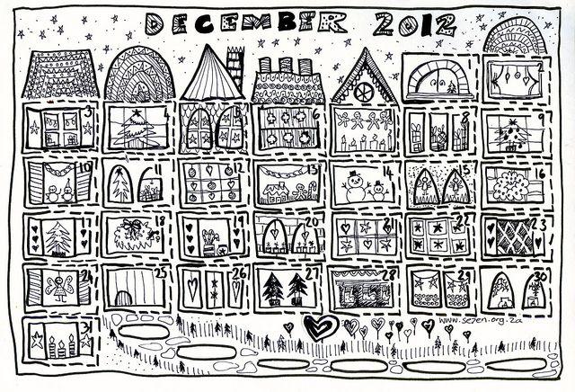 Free printable advent calendar - December Village 2012002 by se7en.hoods, via Flickr