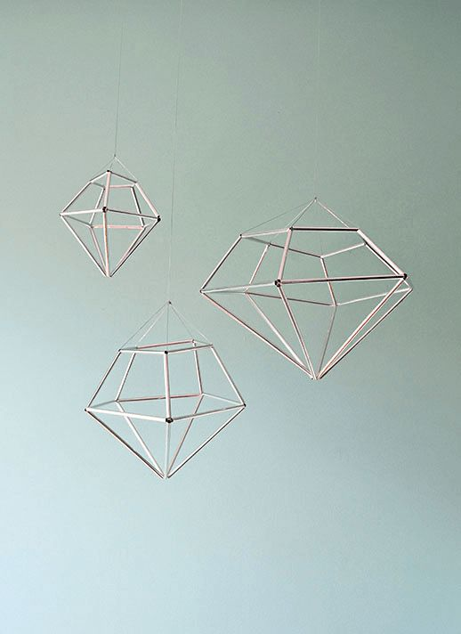 DIY hanging diamond decor from contributor kathleen. Air plant holder?