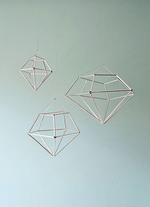 DIY Hanging Diamond Decor - Sugar & Cloth - Home Decor DIY - Houston Blogger