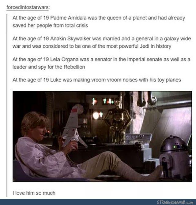 Anakin WILL ALWAYS BE BETTER THEN LUKE.  Not that I don't love you Luke, I do.  But Ani's better.