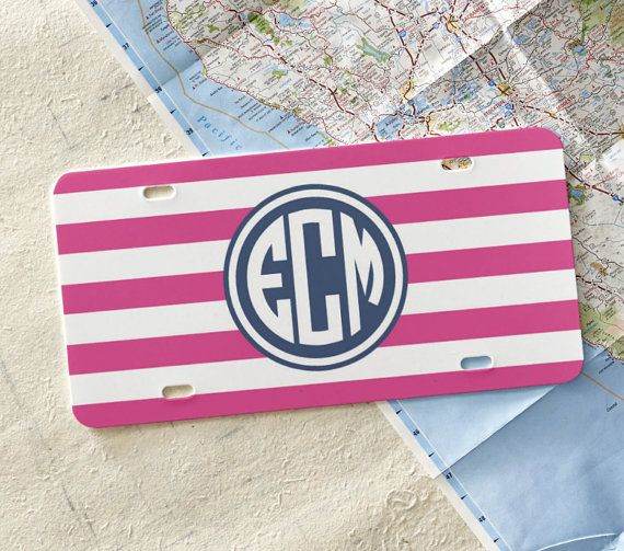 Personalized Front License Plate Monogram by LoveyDoveyCreations