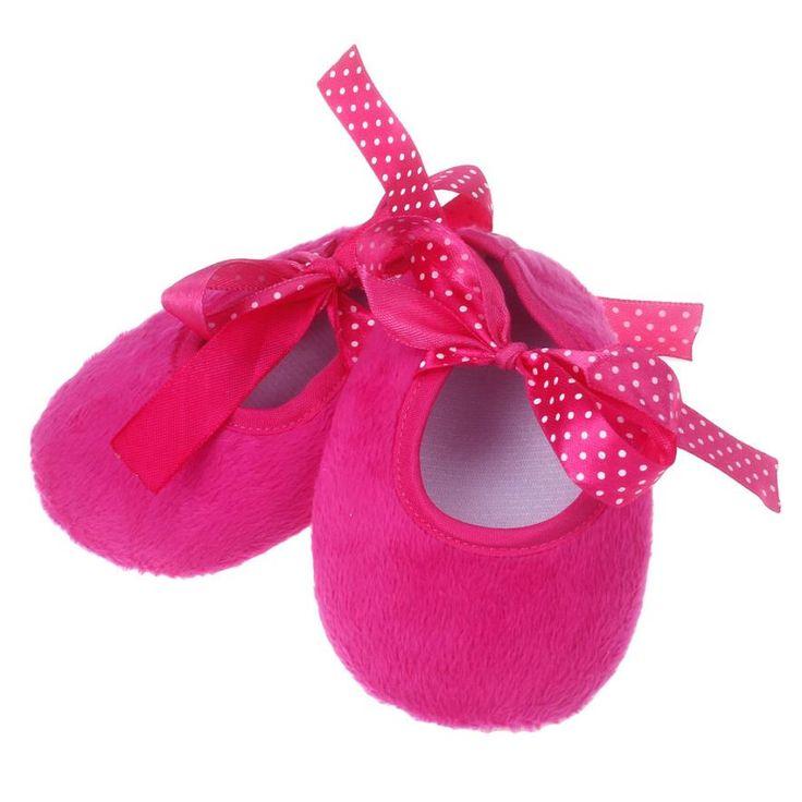 Barato Sapatos de bebê meninas moda Sólidos Bowknot bebê menina sapatos recém…