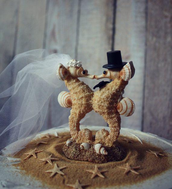 Sea Horse-wedding-cake by MorganTheCreator on Etsy